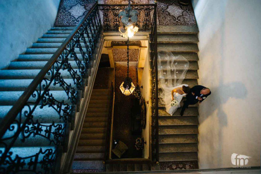 l'arrivo della sposa a Ca' Marcello villa Veneta