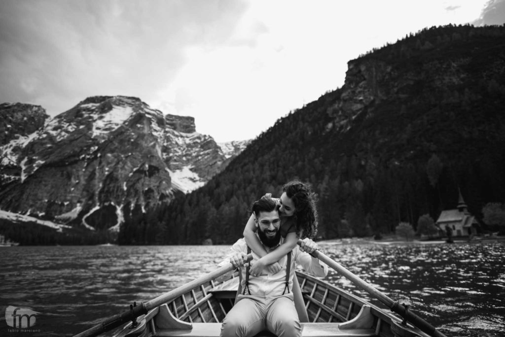 engaged on a braies boat.
