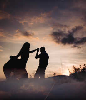 Sofia and Marcello's couple photo shoot in the Dolomites
