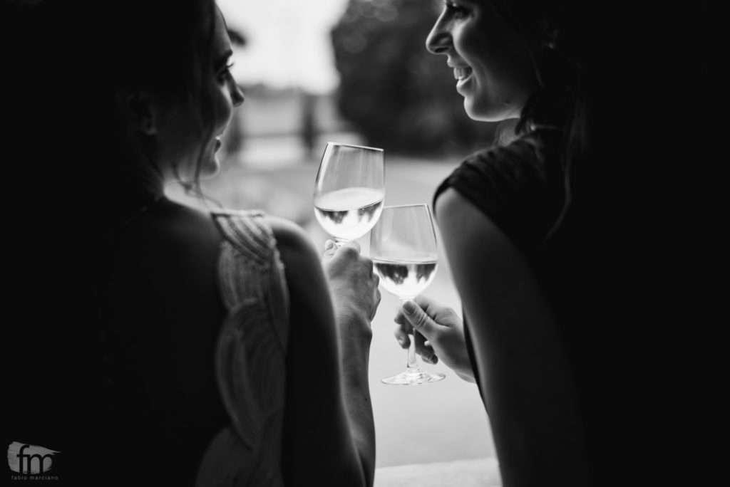 toast at villa corner della regina