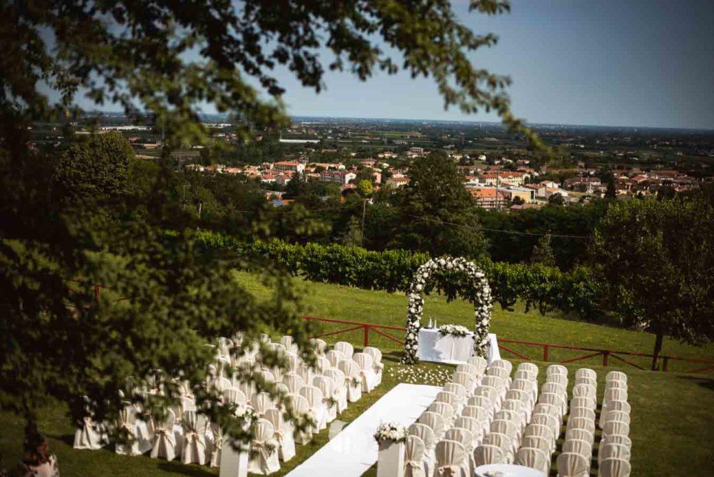Photo of a civil ceremony at Casa Gobbato