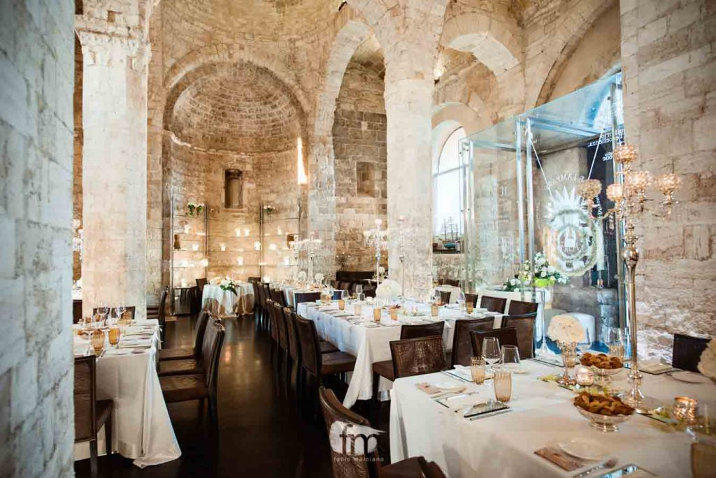 The Lampare al Fortino internal hall