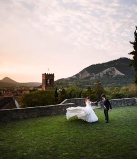 Luxury wedding in castle, Monselice, Veneto