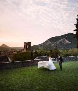Luxury wedding in castle, Monselice, Veneto